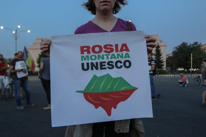 BUCURESTI - ROSIA MONTANA - PROTEST