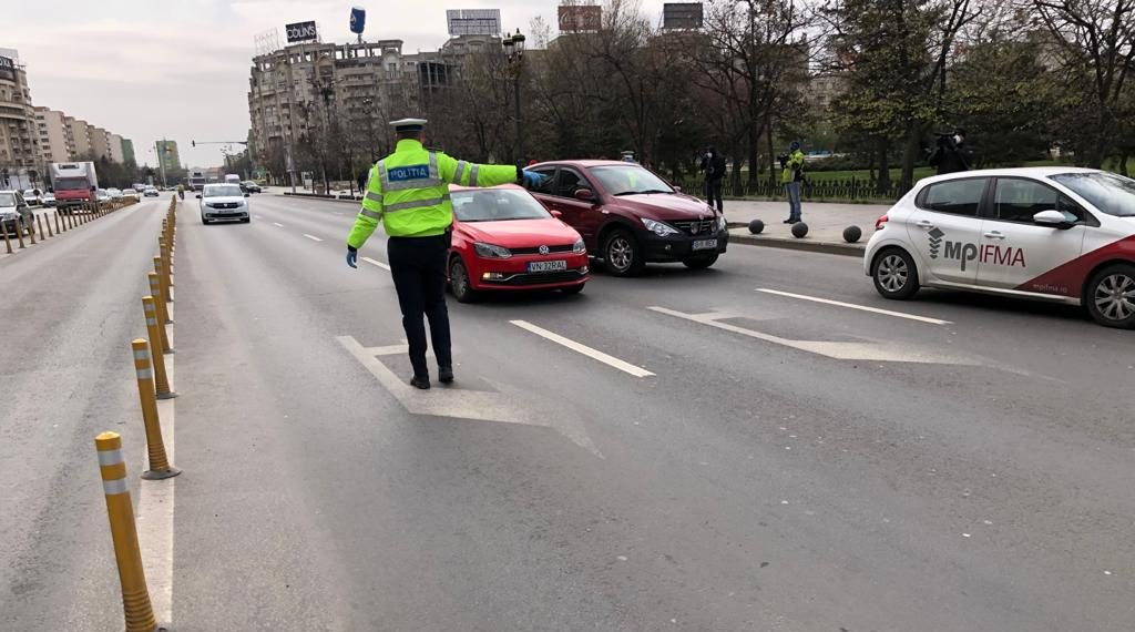 Controale politie trafic prima zi de carantina totala