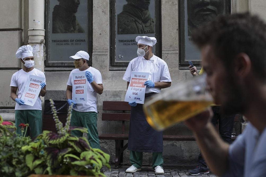 protest horeca, centrul vechi, restaurante, cafenele
