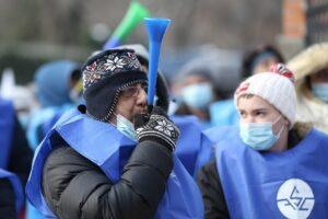 BUCURESTI - PROTEST - CARTEL ALFA - SEDIUL PNL - 19 IAN 2020