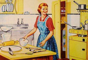 femeie casnica, bucatarie, retro. sursa foto: pixabay.com