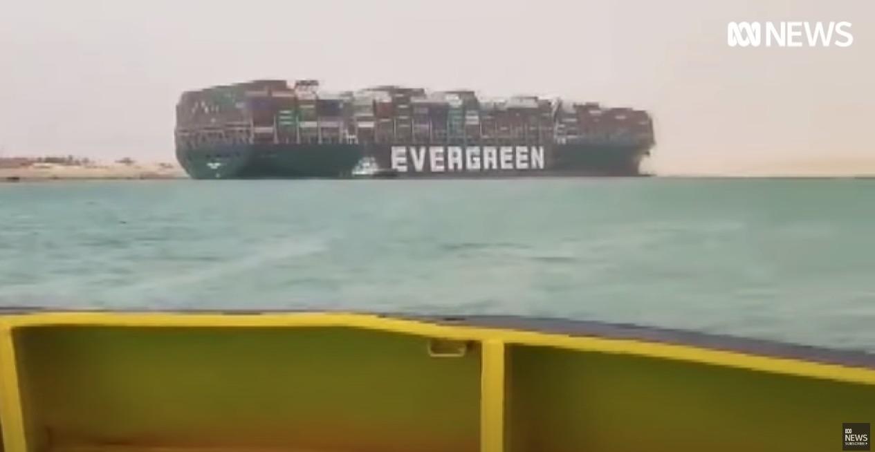 Canalul Suez Blocat