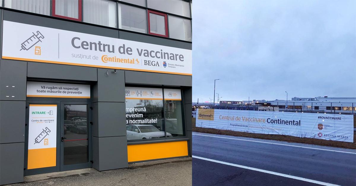 Centru de vaccinare realizat de Continental și Primăria Timișoara - Sursa companie
