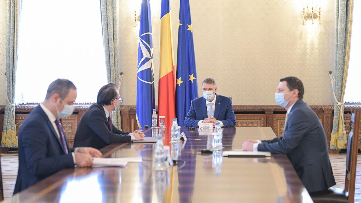 Klaus Iohannis Florin Cîțu Alexandru Nazare Cosmin Marinescu FOTO Presidency.ro