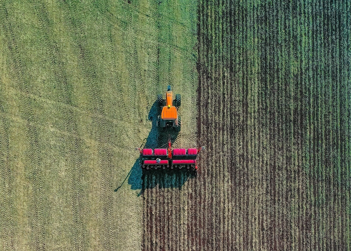 agricultura, teren, tractor, agricol