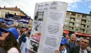 bugetari miting protest Agerpres - Mircea Rosca
