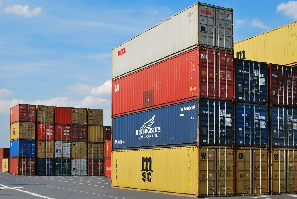 containere, transport, import, export