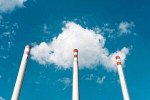 industrie, carbune, fabrica, poluare, turbina