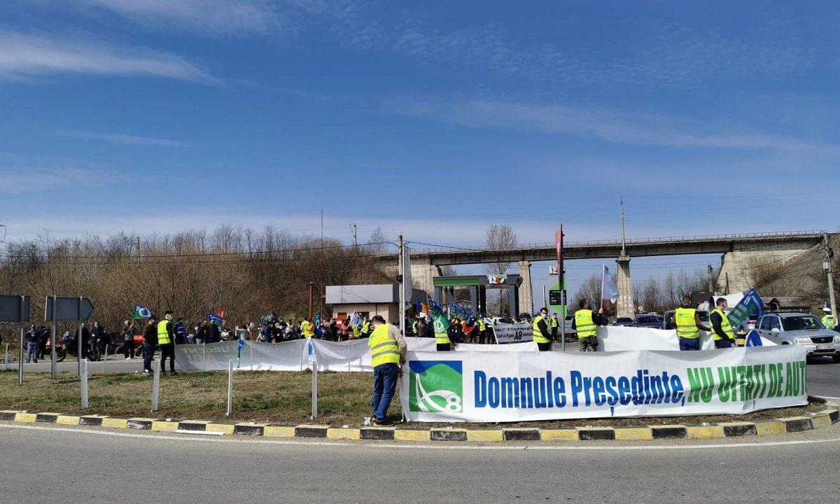 Miting autostrazi Moldova 1