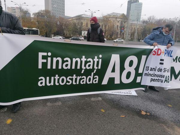 Protest A8, autostrada moldova