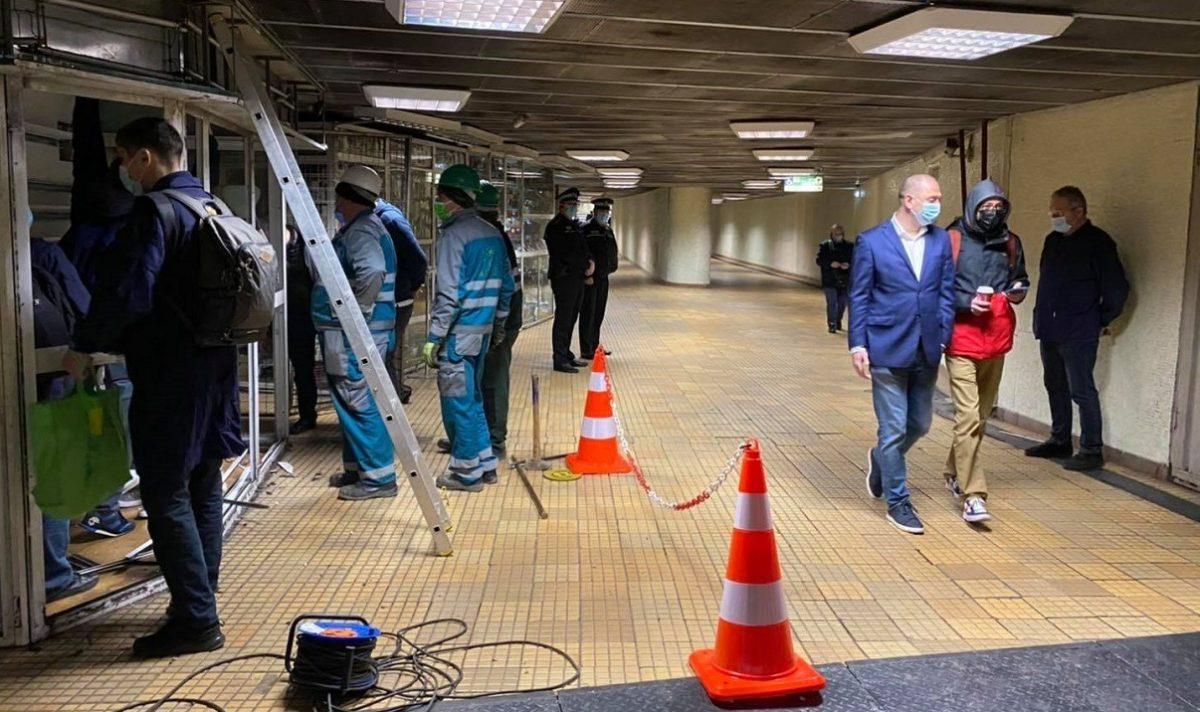 evacuare chioscuri metrou