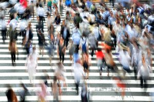 multime, oameni, populatie, demografic, trecere de pietoni