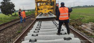 Tren de lucru CFR Infra Bucureşti - Piteşti