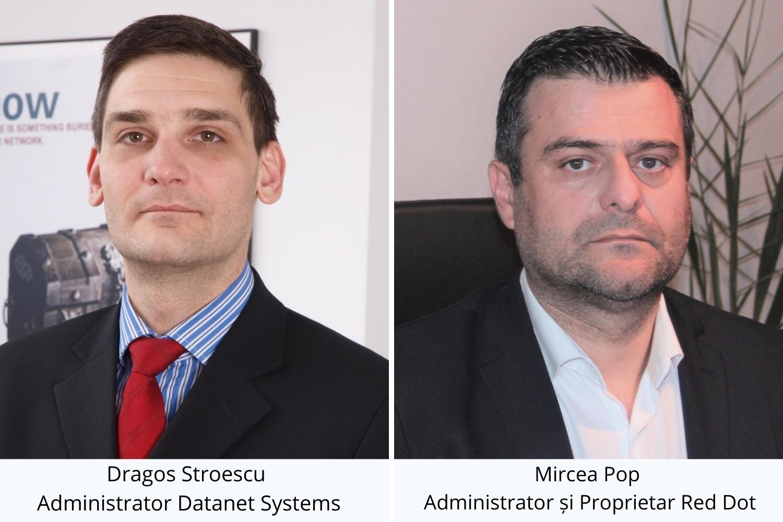 Dragos Stroescu, Administrator Datanet Systems & Mircea Pop, Administrator si Proprietar Red Dot